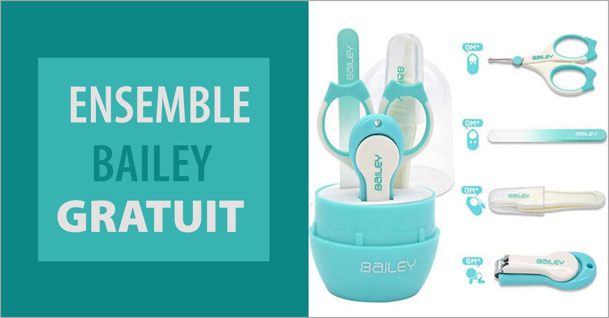 Recevez un ensemble Bailey GRATUIT