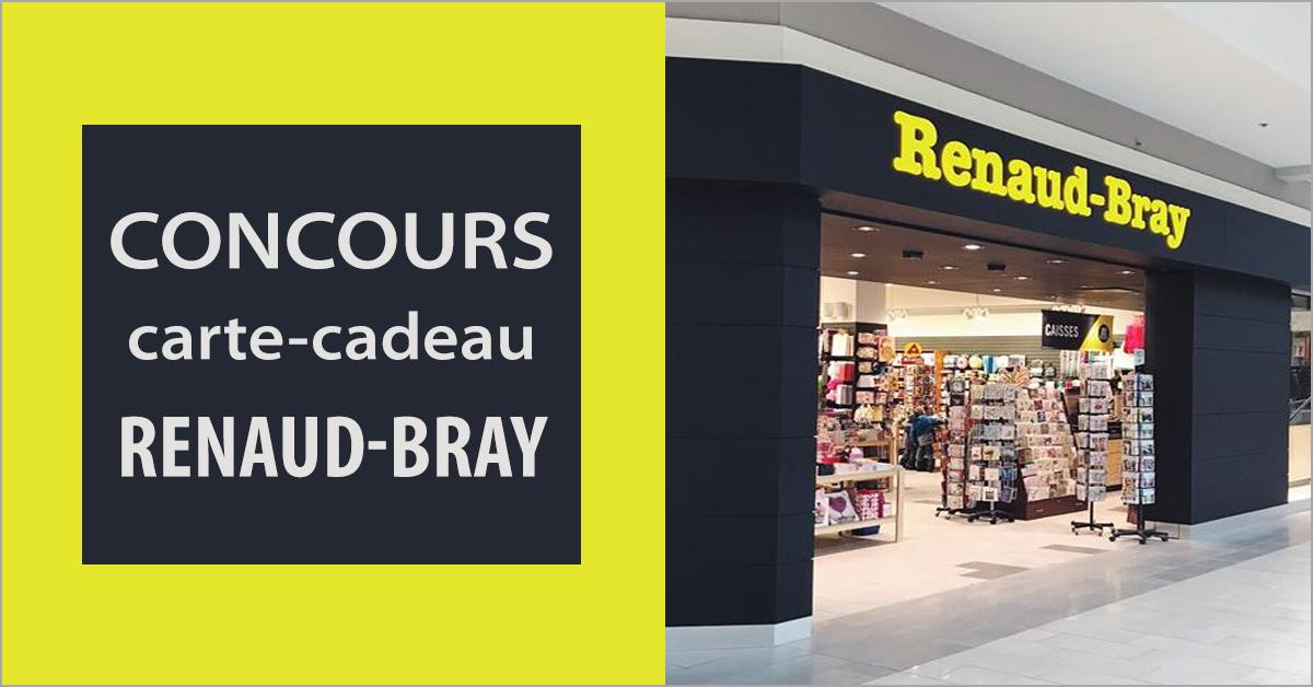Gagnez une carte-cadeau Renaud-Bray de 25 $