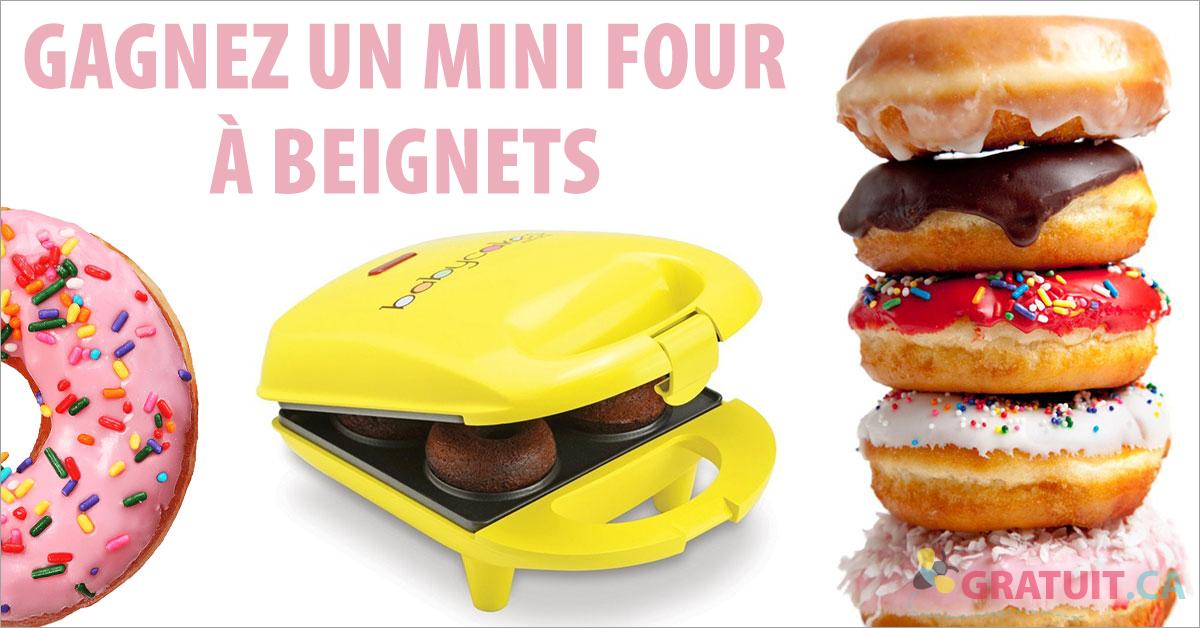 Gagnez un mini four à beignets!