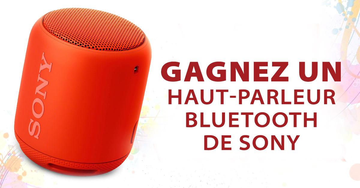 Gagnez un haut-parleur Bluetooth de Sony