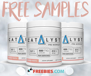 Free Catalyst Pre-Workout Sample