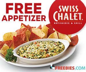 Free Appetizer from Swiss Chalet