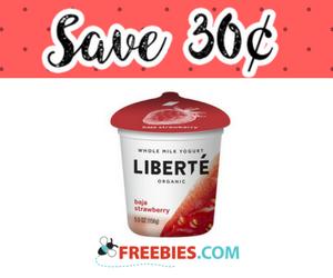 Save 30¢ off one Liberte Yogurt