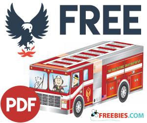Free Kids Firetruck Foldup Activity Sheet