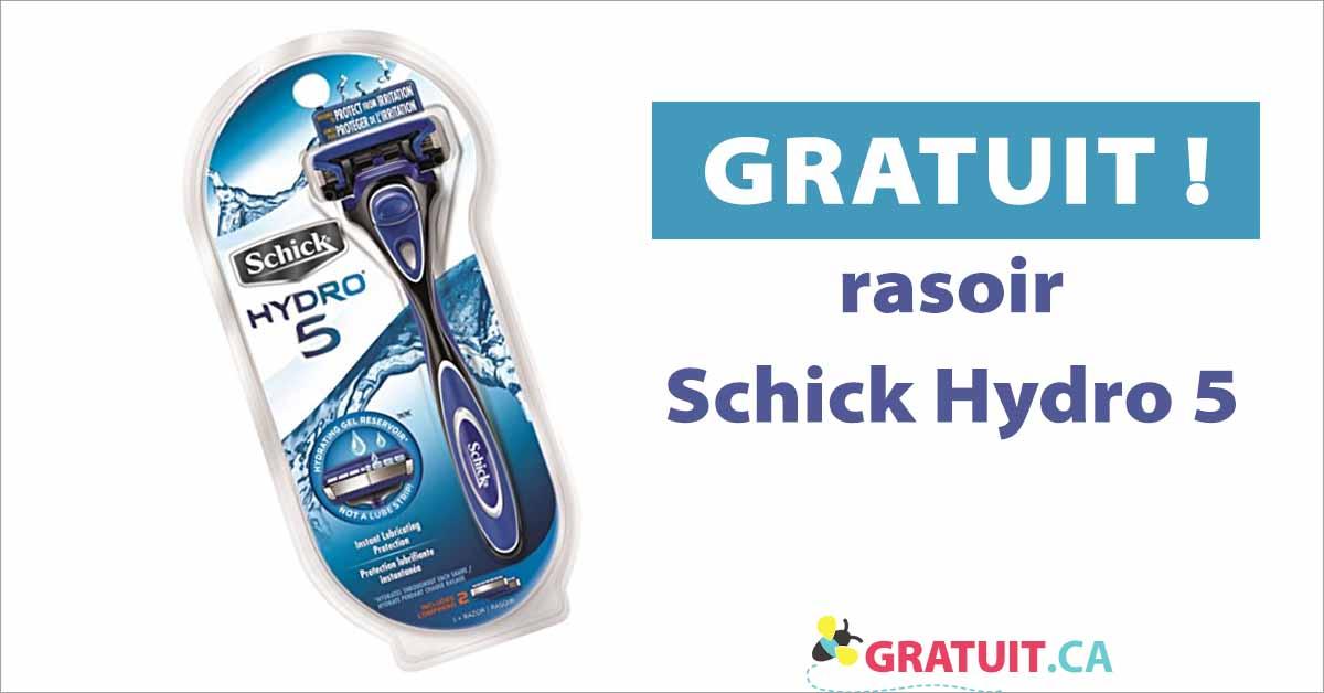 Offre de rasoir Schick Hydro 5 gratuit!