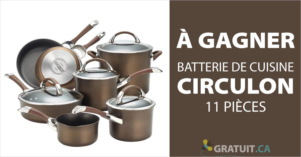 Gagnez une batterie de cuisine Circulon de 11 pièces