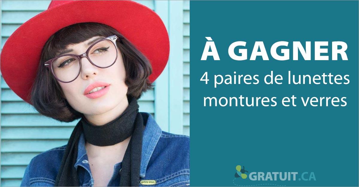 Gagnez 4 paires de lunettes - montures et verres