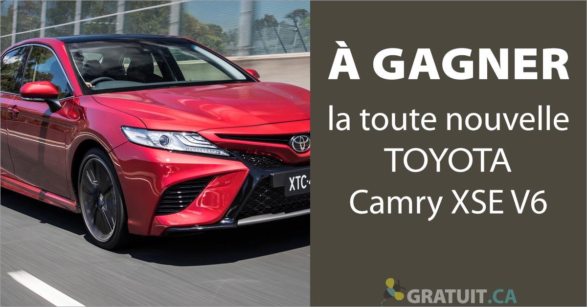 Gagnez la toute nouvelle Toyota Camry XSE V6