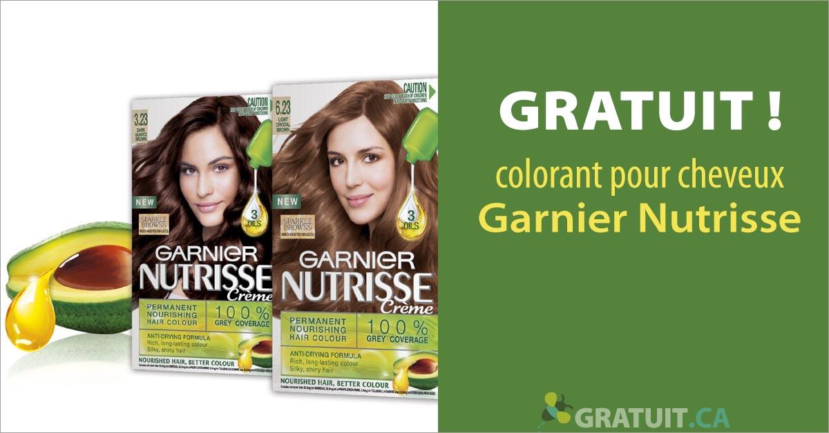 Gratuit - colorant pour cheveux Garnier Nutrisse