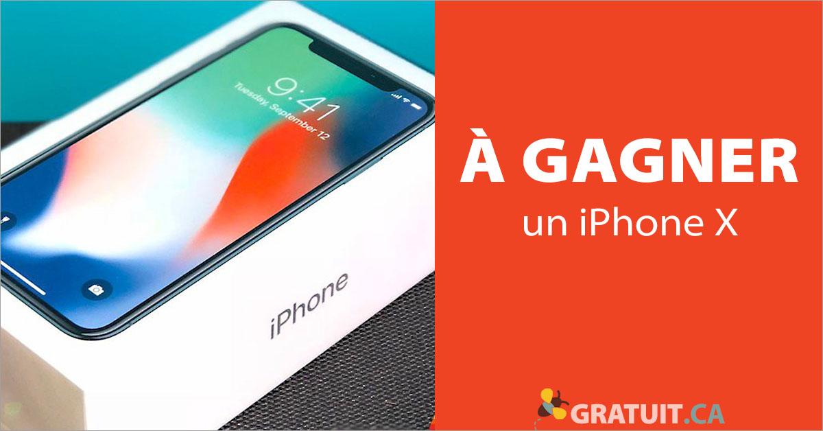 Gagnez un iPhone x