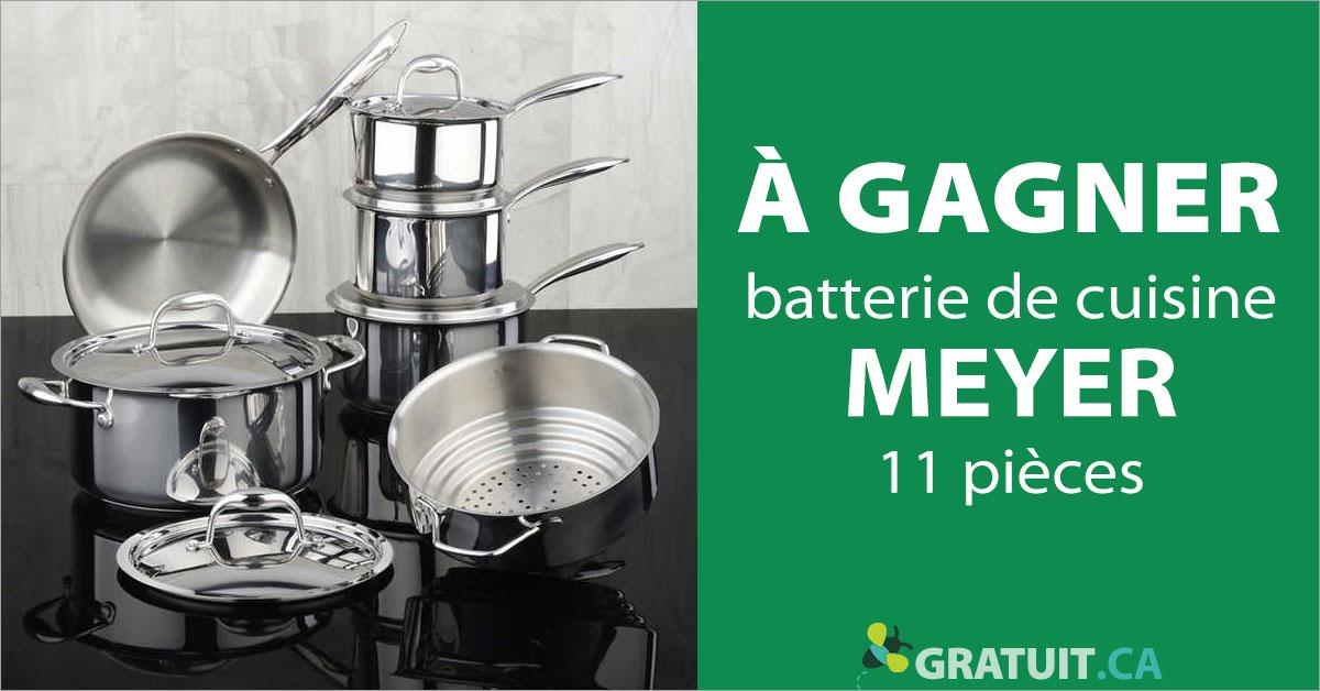Gagnez une batterie de cuisine Meyer de 11 pièces