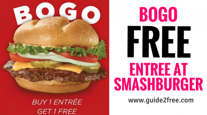 image relating to Smashburger Printable Coupon called Employ this coupon and order BOGO entrées at Smashburger