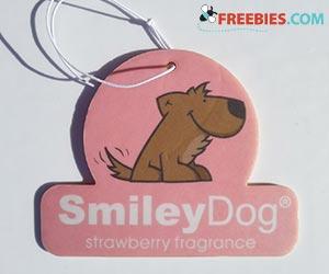 Free Smiley Dog Air Freshener Tag