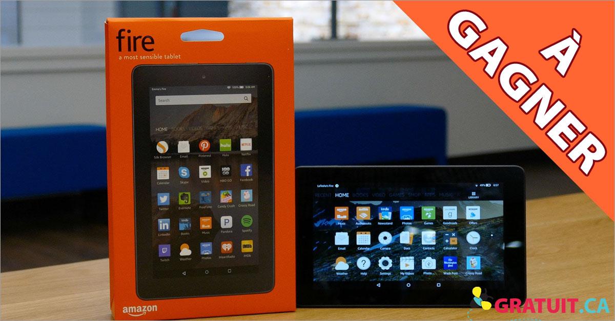 Gagnez une tabletteAmazon Fire 7