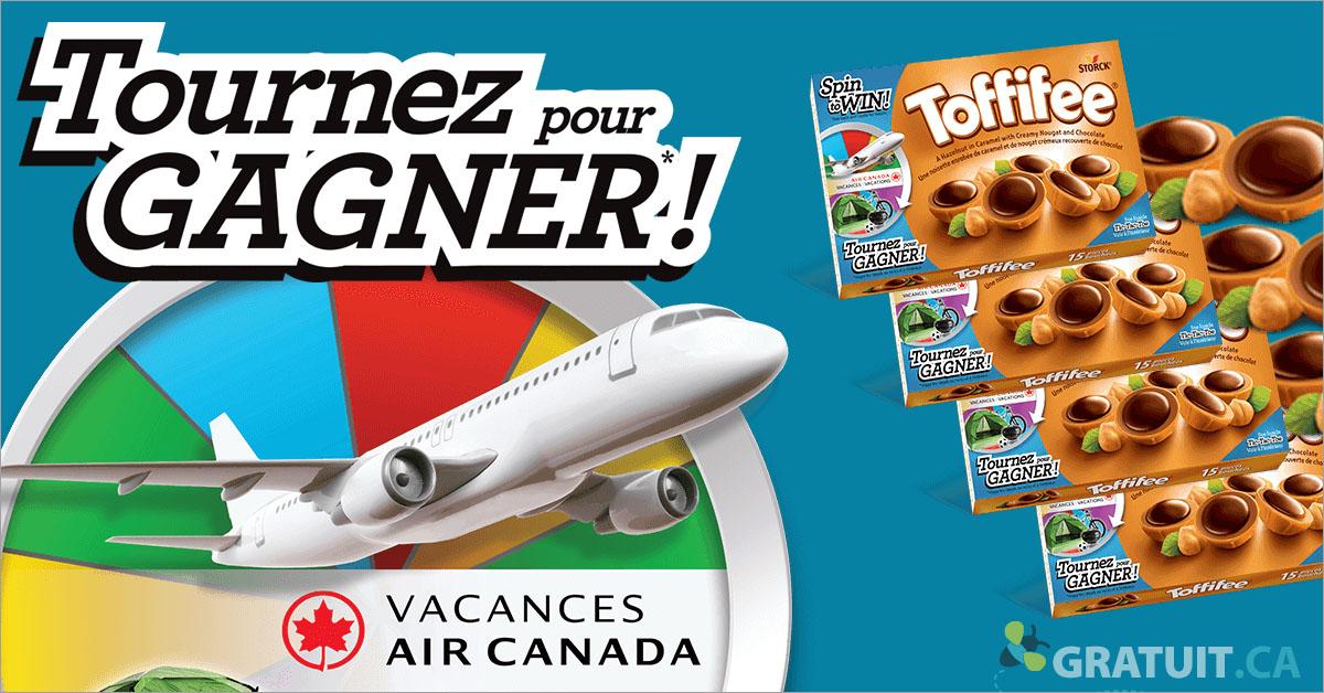 Gagnez un bon de voyage Air Canada et plus!