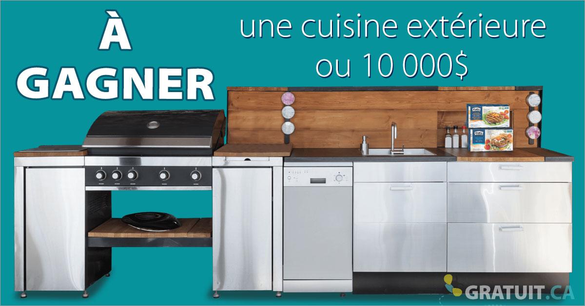 Gagnez une cuisine extérieure ou 10 000$