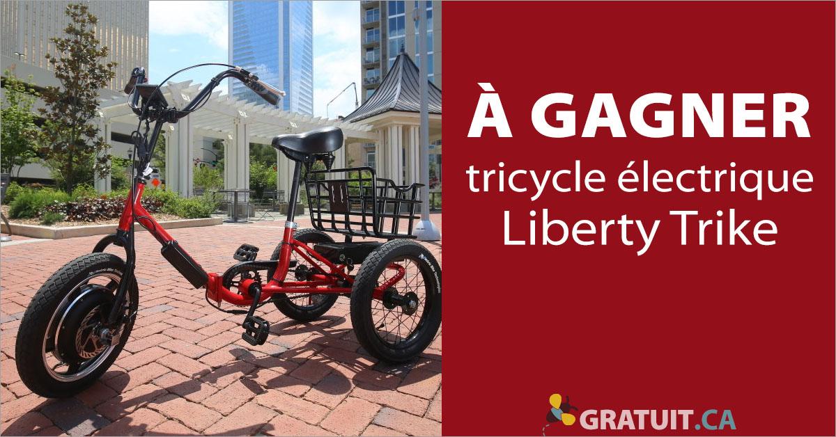 Gagnez un tricycle électrique d'une valeur de 1 500$
