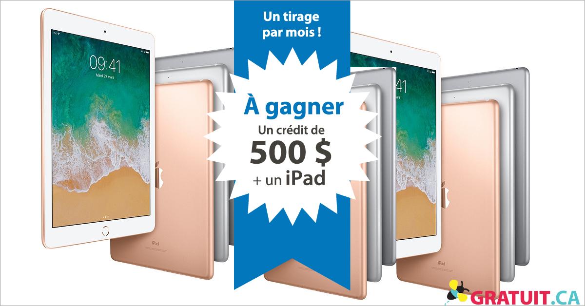 Gagnez un iPad et un crédit de 500$