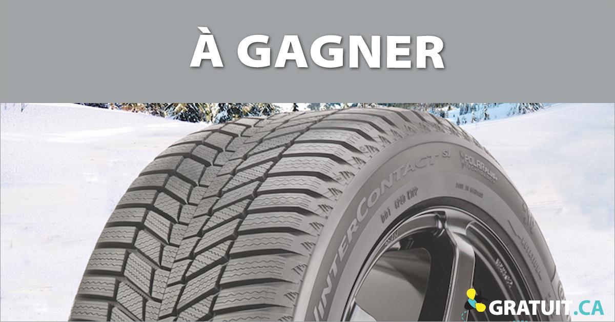Gagnez un ensemble de pneus d'hiver Continental