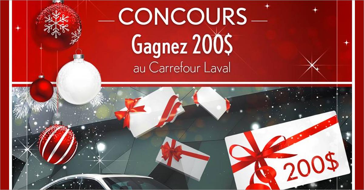 Gagnez 200$ en carte-cadeau au Carrefour Laval