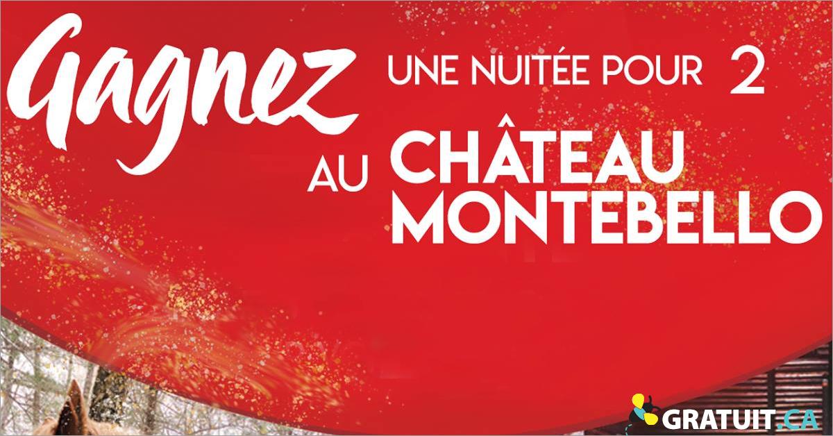 Gagnez une nuitée pour 2 au Château Montebello!