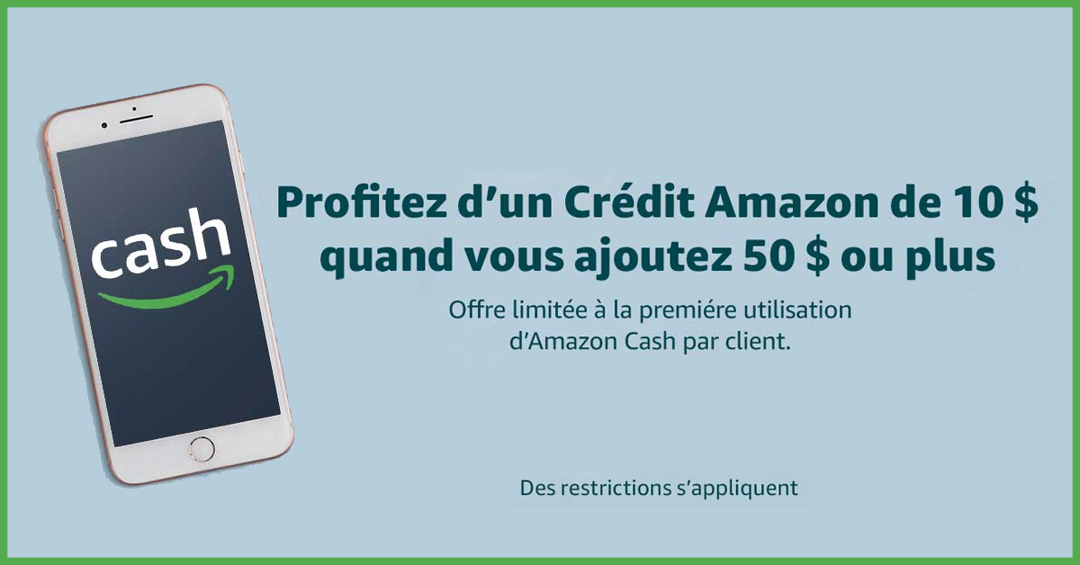 GRATUIT 10$ sur votre compte Amazon Cash