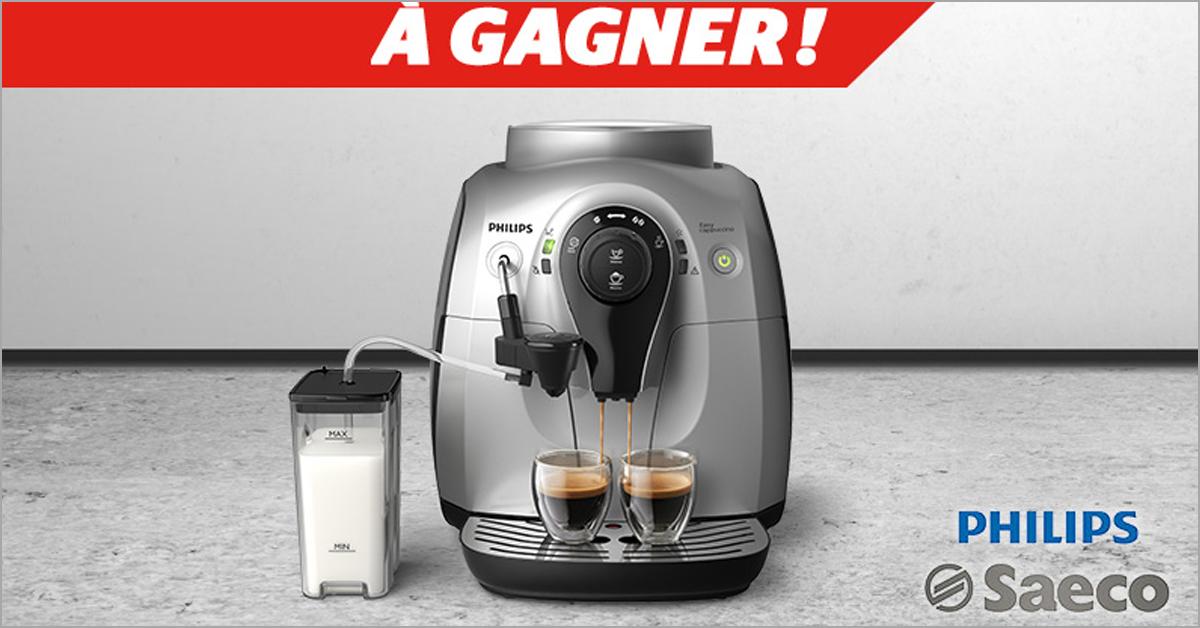 Gagnez une machine à café Philips Saeco