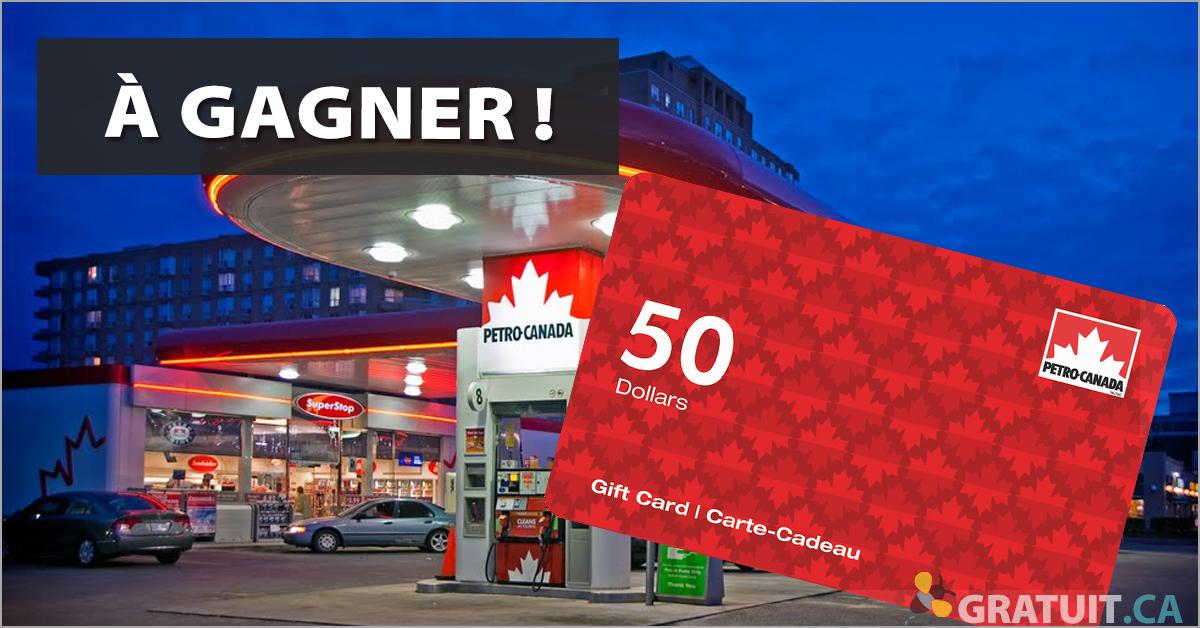 Gagnez une carte-cadeau Petro Canada de 50$!