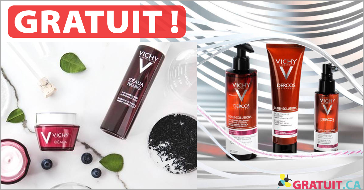 Produits Vichy GRATUITS!