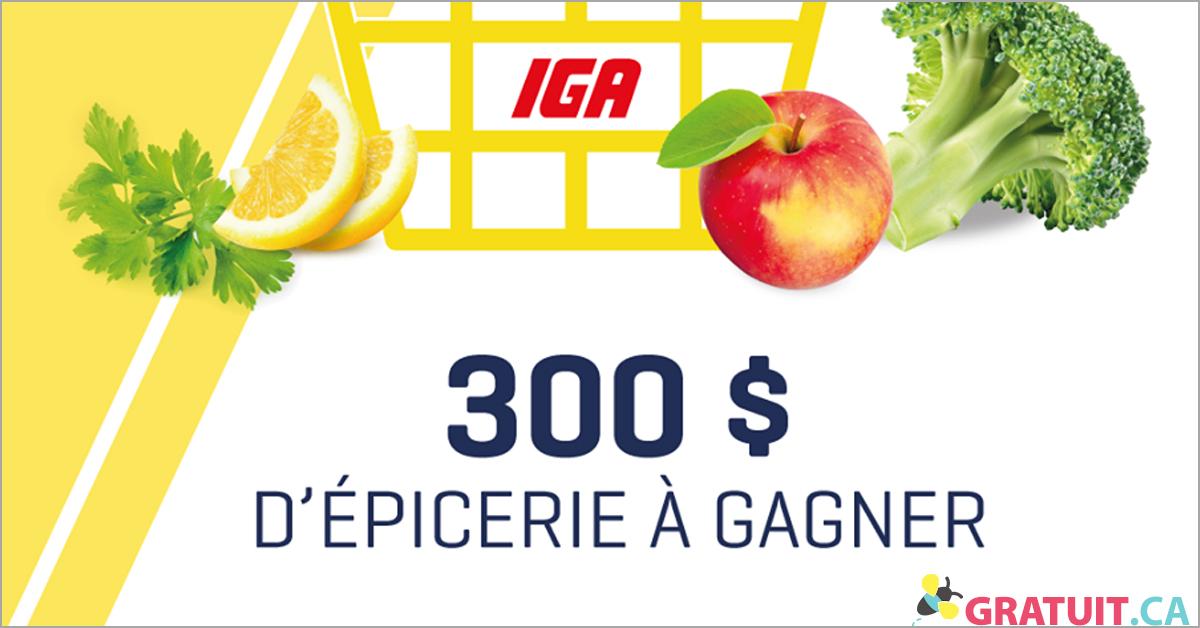 Gagnez une carte-cadeau IGA de 300 $