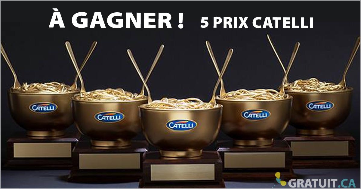 Gagnez 1 des 5 prix Catelli!