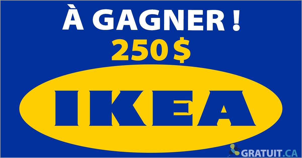 Gagnez une carte IKEA de 250$
