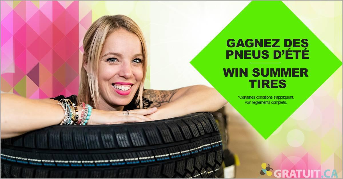 Gagnez un ensemble de 4 pneus d'été