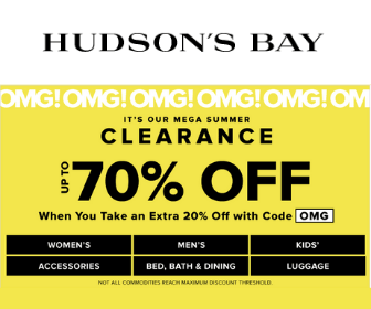 1 Ballot: 70% Off Hudson's Bay | Freebies com - Freebies com