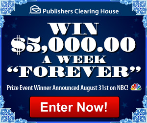 Win $5 000 a week for life sweepstakes