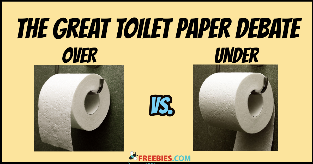Image result for over or under toilet paper debate