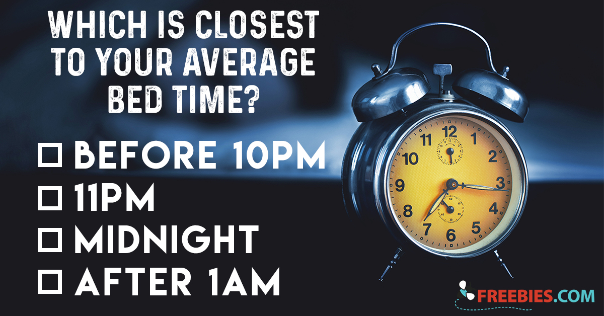 When Is Your Average Bed Time?