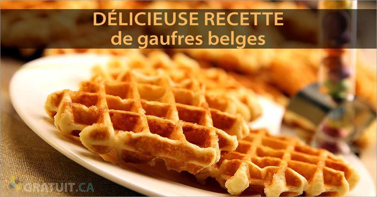 Délicieuse recette de gaufres belges
