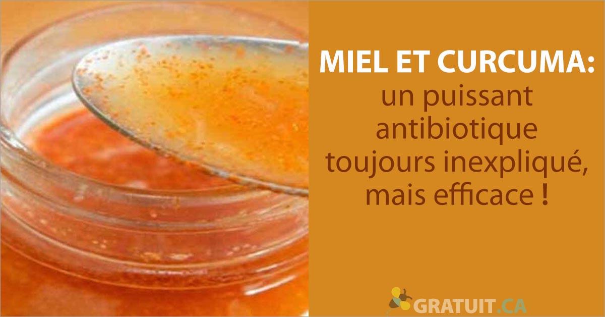 Miel et curcuma un puissant antibiotique toujours inexplique mais efficace