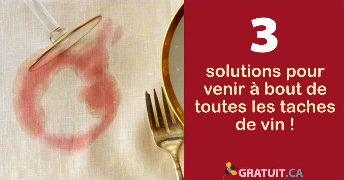 solutions pour venir a bout de toutes les taches de vin