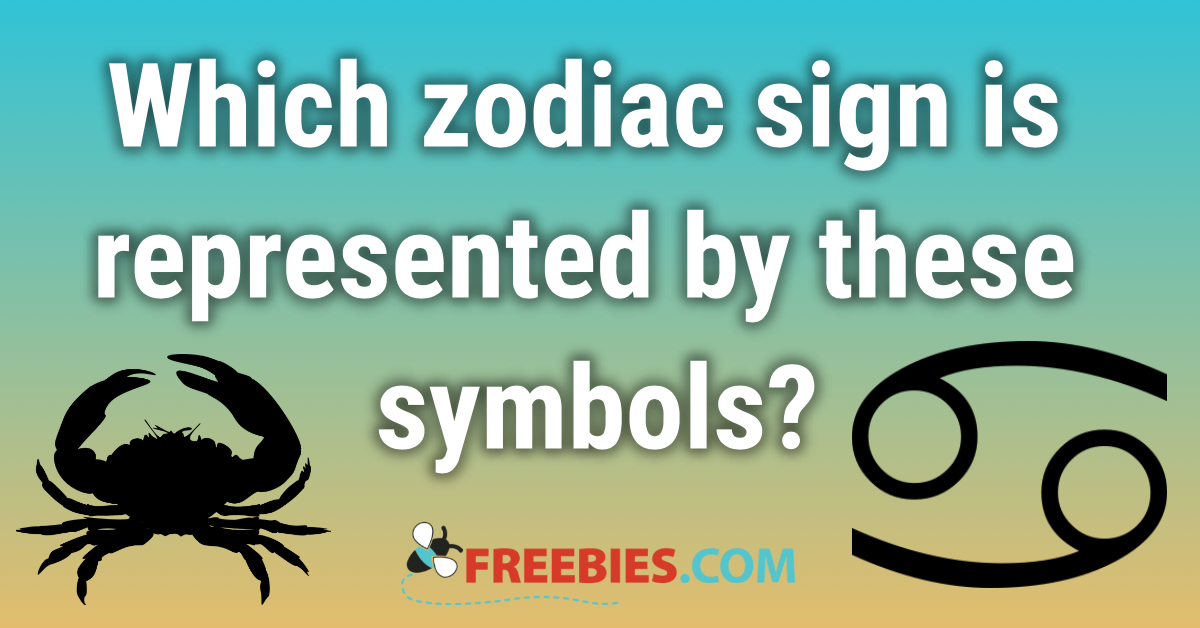 TRIVIA: Which zodiac sign is represented by a crab?