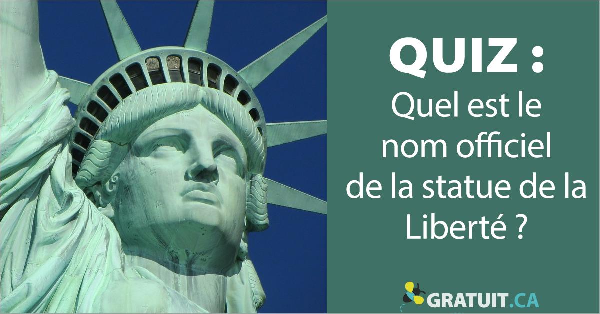 Quel est le nom officiel de la statue de la Liberté?