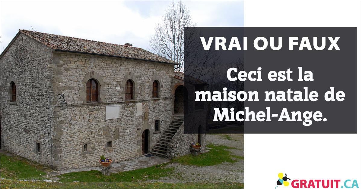 Vrai ou faux : Ceci est la maison natale de Michel-Ange.