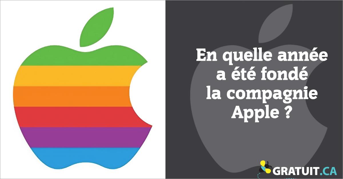 En quelle année a été fondé la compagnie Apple?