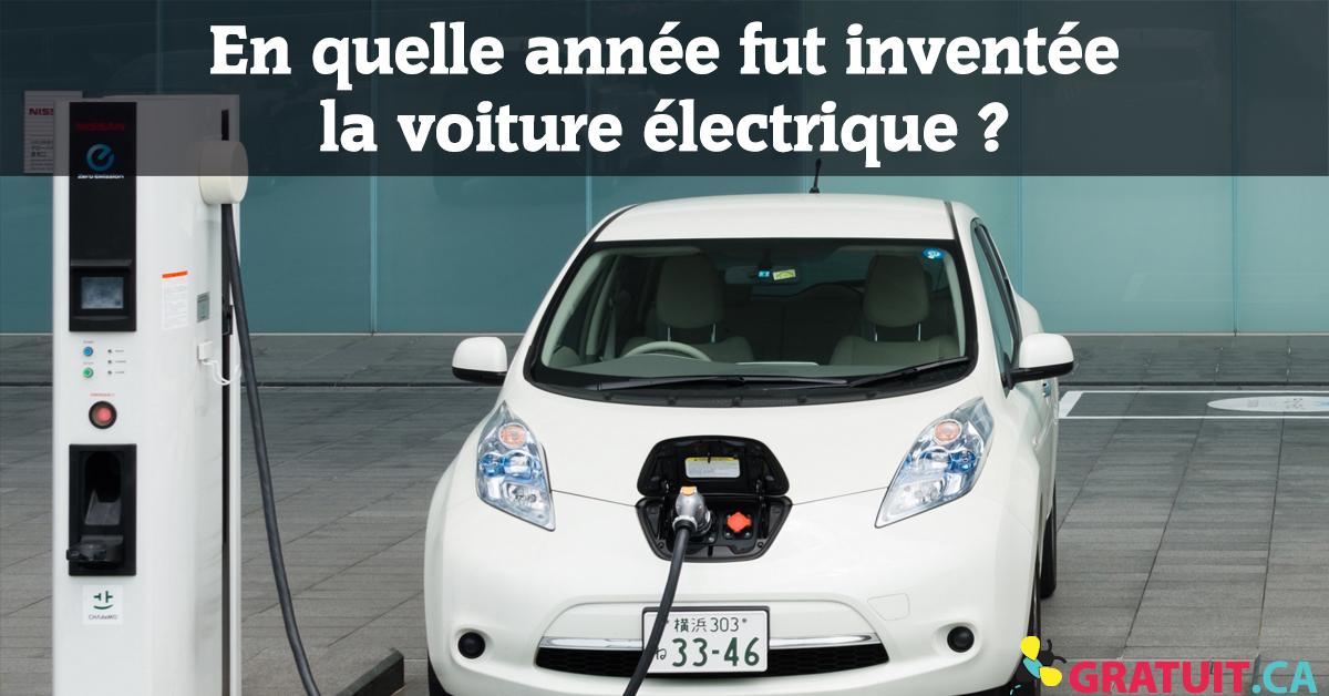 En quelle année fut inventée la voiture électrique?