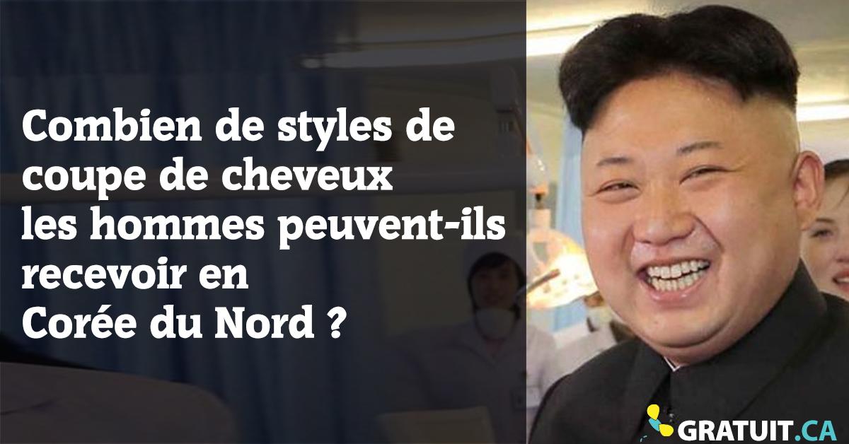 Combien de styles de coupe de cheveux les hommes peuvent-ils recevoir en Corée du Nord?