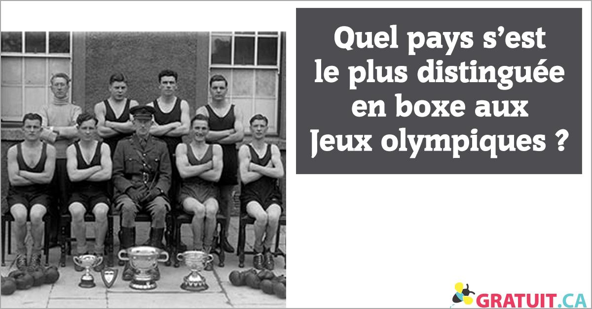 Quel pays s'est le plus distinguée en boxe aux Jeux olympiques.
