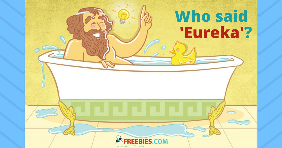 """Who Said """"Eureka""""?"""