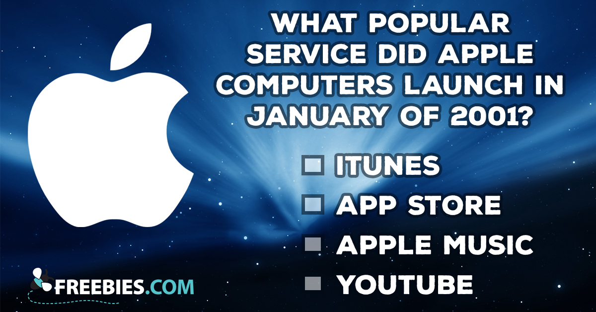 What Popular Service Did Apple Launch in 2001?