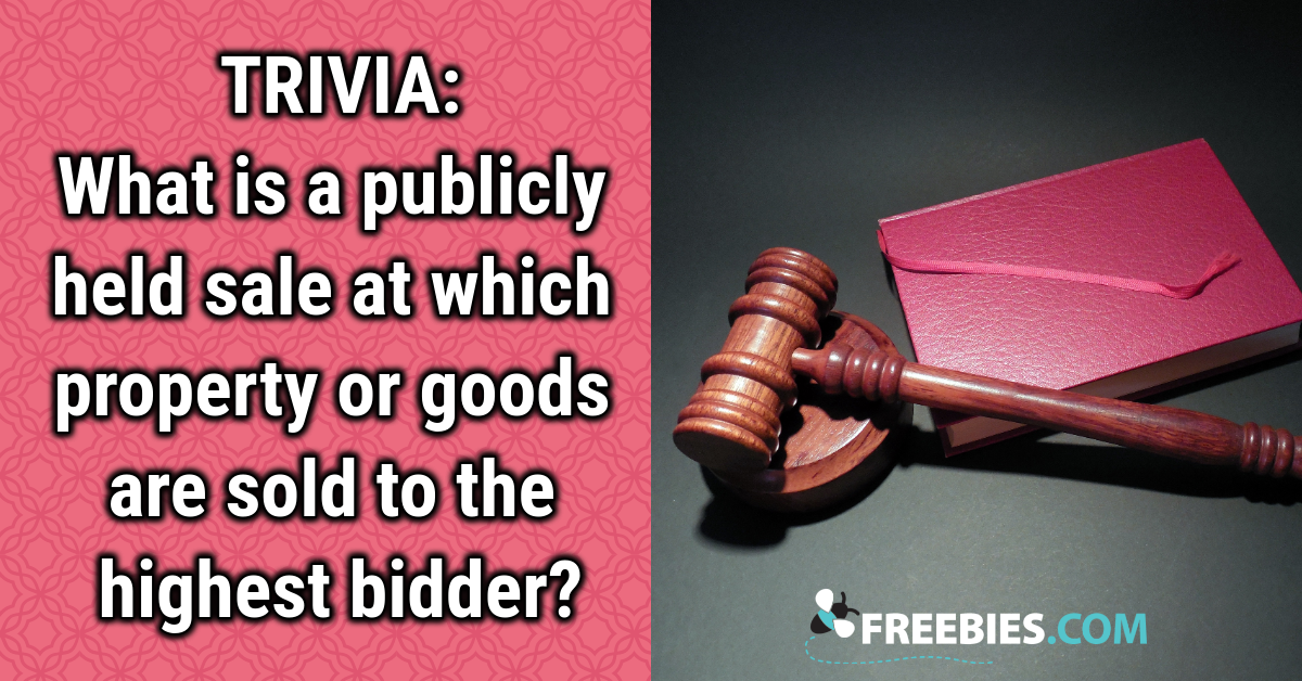 TRIVIA: Can you name this type of sale?